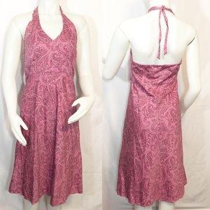 J. Crew Paisley Print Halter Sun Dress